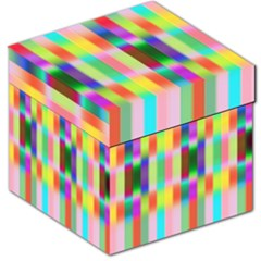 Multicolored Irritation Stripes Storage Stool 12   by designworld65