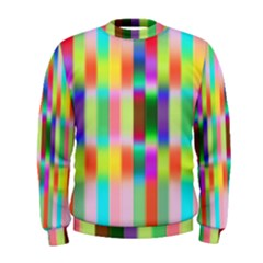 Multicolored Irritation Stripes Men s Sweatshirt by designworld65