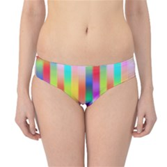 Multicolored Irritation Stripes Hipster Bikini Bottoms by designworld65
