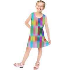Multicolored Irritation Stripes Kids  Tunic Dress by designworld65