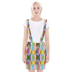 Multicolored Irritation Stripes Braces Suspender Skirt by designworld65
