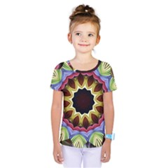 Love Energy Mandala Kids  One Piece Tee by designworld65