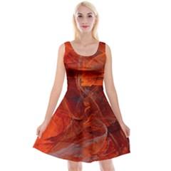Swirly Love In Deep Red Reversible Velvet Sleeveless Dress by designworld65
