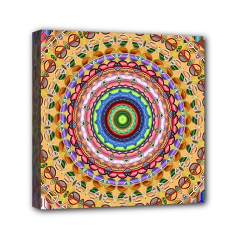 Peaceful Mandala Mini Canvas 6  X 6  by designworld65