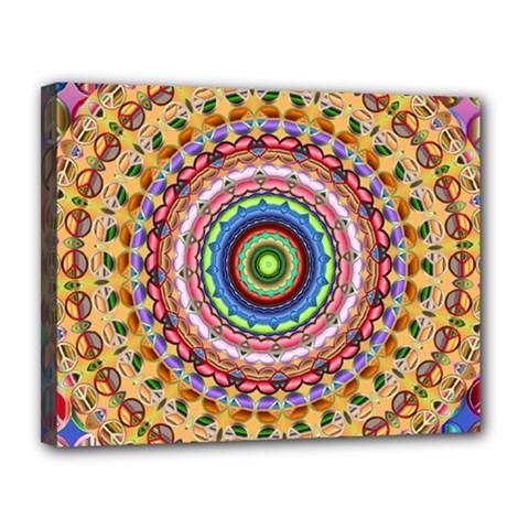 Peaceful Mandala Canvas 14  X 11  by designworld65
