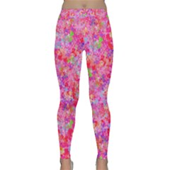 The Big Pink Party Classic Yoga Leggings by designworld65