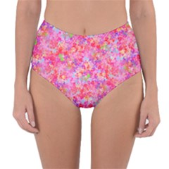 The Big Pink Party Reversible High Waist Bikini Bottoms by designworld65