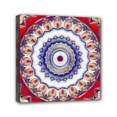 Romantic Dreams Mandala Mini Canvas 6  X 6  by designworld65