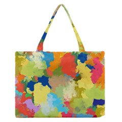 Summer Feeling Splash Zipper Medium Tote Bag by designworld65