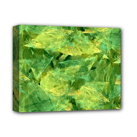 Green Springtime Leafs Deluxe Canvas 14  X 11  by designworld65