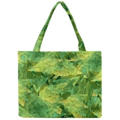 Green Springtime Leafs Mini Tote Bag by designworld65