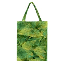 Green Springtime Leafs Classic Tote Bag by designworld65