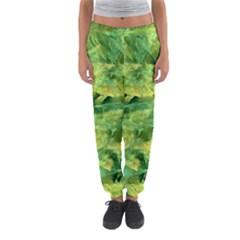 Green Springtime Leafs Women s Jogger Sweatpants by designworld65