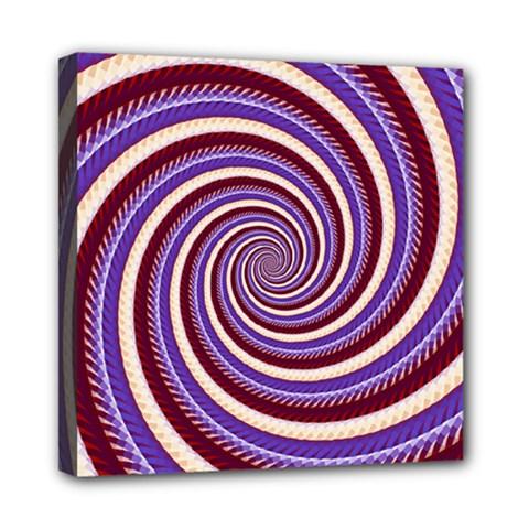 Woven Spiral Mini Canvas 8  X 8  by designworld65
