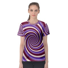 Woven Spiral Women s Sport Mesh Tee by designworld65