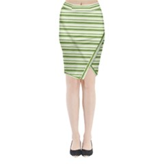 Spring Stripes Midi Wrap Pencil Skirt by designworld65