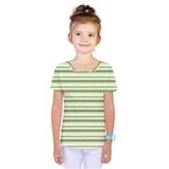 Spring Stripes Kids  One Piece Tee by designworld65