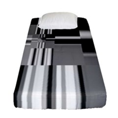 Black And White Endless Window Fitted Sheet (single Size) by designworld65