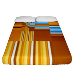 Endless Window Blue Gold Fitted Sheet (queen Size) by designworld65