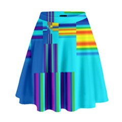 Colorful Endless Window High Waist Skirt by designworld65