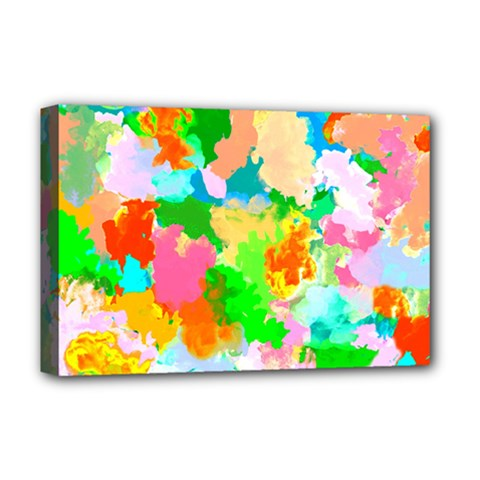 Colorful Summer Splash Deluxe Canvas 18  X 12   by designworld65