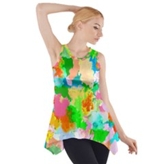 Colorful Summer Splash Side Drop Tank Tunic by designworld65