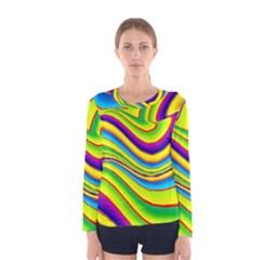 Summer Wave Colors Women s Long Sleeve Tee by designworld65