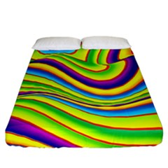 Summer Wave Colors Fitted Sheet (california King Size) by designworld65