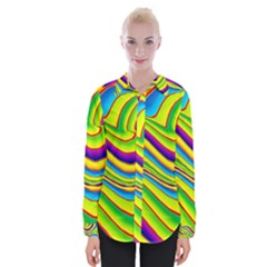 Summer Wave Colors Womens Long Sleeve Shirt by designworld65