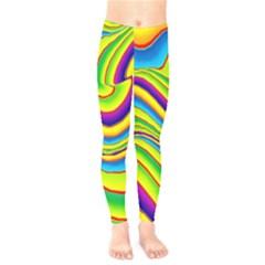 Summer Wave Colors Kids  Legging by designworld65