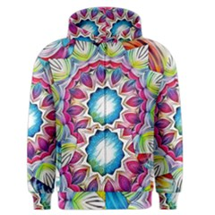 Sunshine Feeling Mandala Men s Zipper Hoodie by designworld65