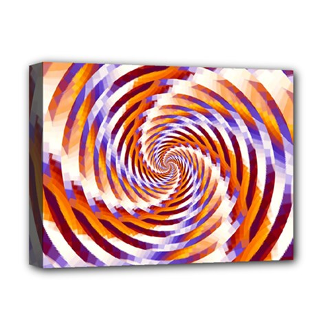 Woven Colorful Waves Deluxe Canvas 16  X 12   by designworld65