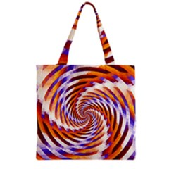 Woven Colorful Waves Grocery Tote Bag by designworld65