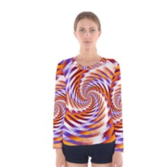 Woven Colorful Waves Women s Long Sleeve Tee by designworld65