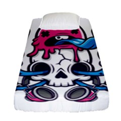Ice Cream Skull Fitted Sheet (single Size)