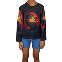 Dragon Kids  Long Sleeve Swimwear by Zhezhe