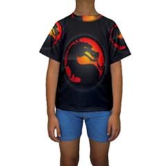 Dragon Kids  Short Sleeve Swimwear by Zhezhe