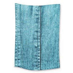 Denim Jeans Fabric Texture Large Tapestry by paulaoliveiradesign