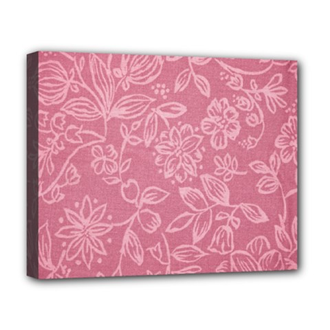 Floral Rose Flower Embroidery Pattern Deluxe Canvas 20  X 16   by paulaoliveiradesign