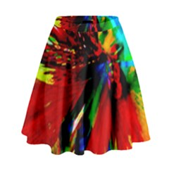 Flowers With Color Kick 1 High Waist Skirt by MoreColorsinLife