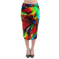 Flowers With Color Kick 1 Midi Pencil Skirt by MoreColorsinLife
