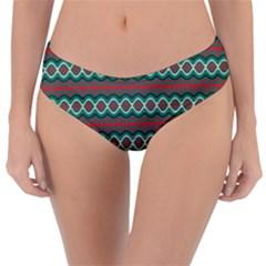 Ethnic Geometric Pattern Reversible Classic Bikini Bottoms by linceazul
