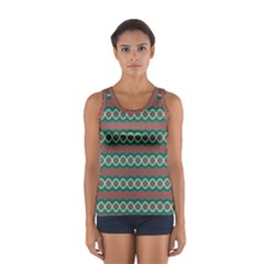 Ethnic Geometric Pattern Sport Tank Top  by linceazul