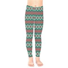 Ethnic Geometric Pattern Kids  Legging by linceazul