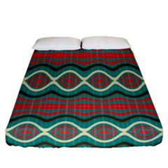 Ethnic Geometric Pattern Fitted Sheet (queen Size) by linceazul