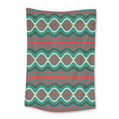 Ethnic Geometric Pattern Small Tapestry by linceazul