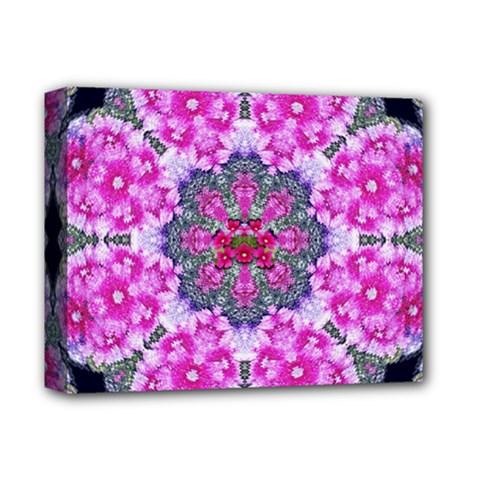Fantasy Cherry Flower Mandala Pop Art Deluxe Canvas 14  X 11  by pepitasart