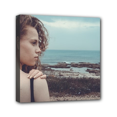 Girl & The Sea Mini Canvas 6  X 6  by amphoto