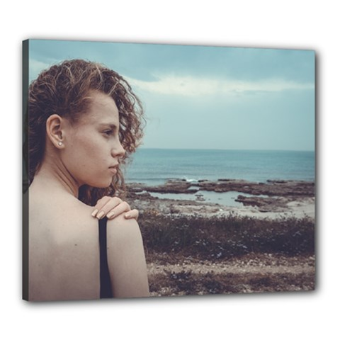 Girl & The Sea Canvas 24  X 20  by amphoto