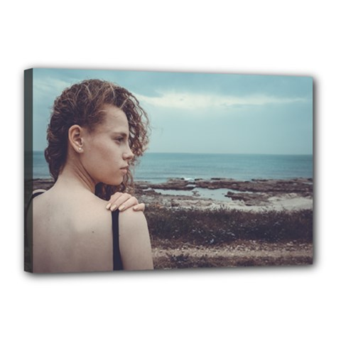 Girl & The Sea Canvas 18  X 12  by amphoto